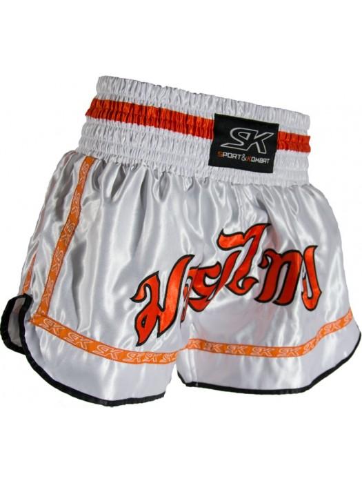 "Panta thai ""FANTASY"" bianco arancio"