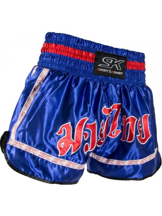 """Pantaloncino thai """"FANTASY"""" rosso azzurro"""