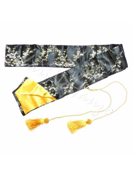 Sacca in seta nero-oro