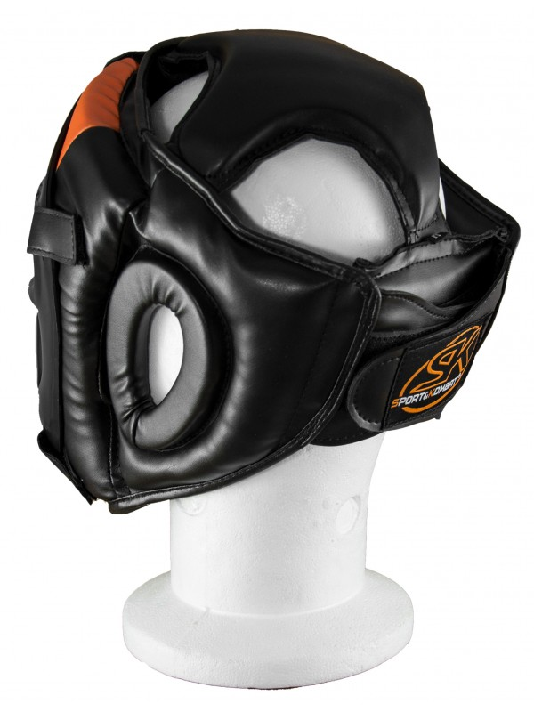 CASCO FULL COVER NERO/ARANCIO