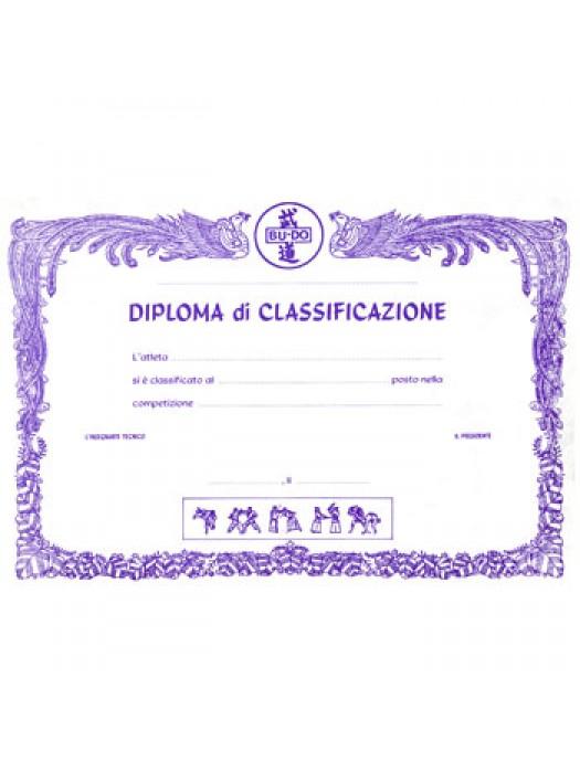 DIPLOMA DI CLASSIFICAZIONE