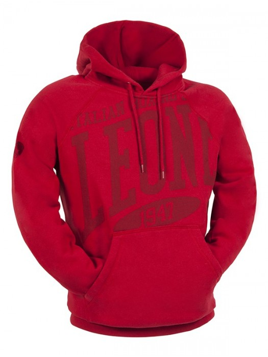 Felpa con cappuccio / rosso