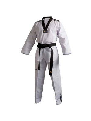 UNIFORME DA TAEKWONDO ADIDAS ADI-CLUB 3/// COLLO NERO